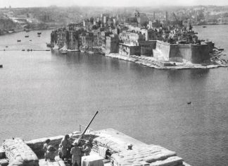 Anti-aircraft position in Malta