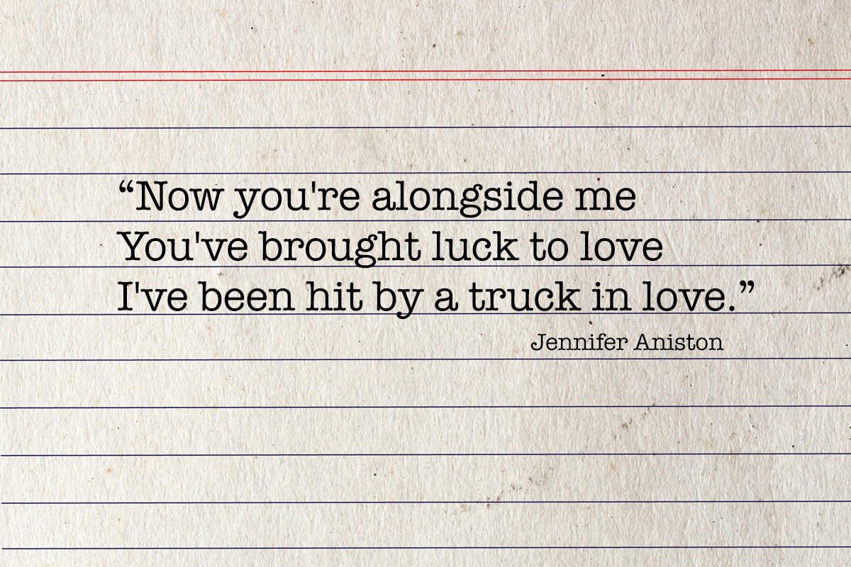 Poem by Jennifer Aniston