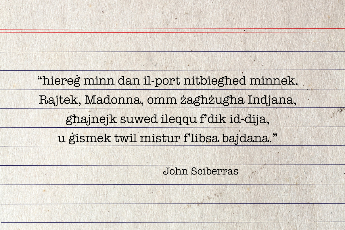 Bad poetry by John Sciberras'