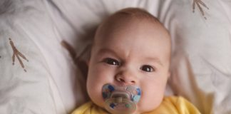 angry, frowning baby