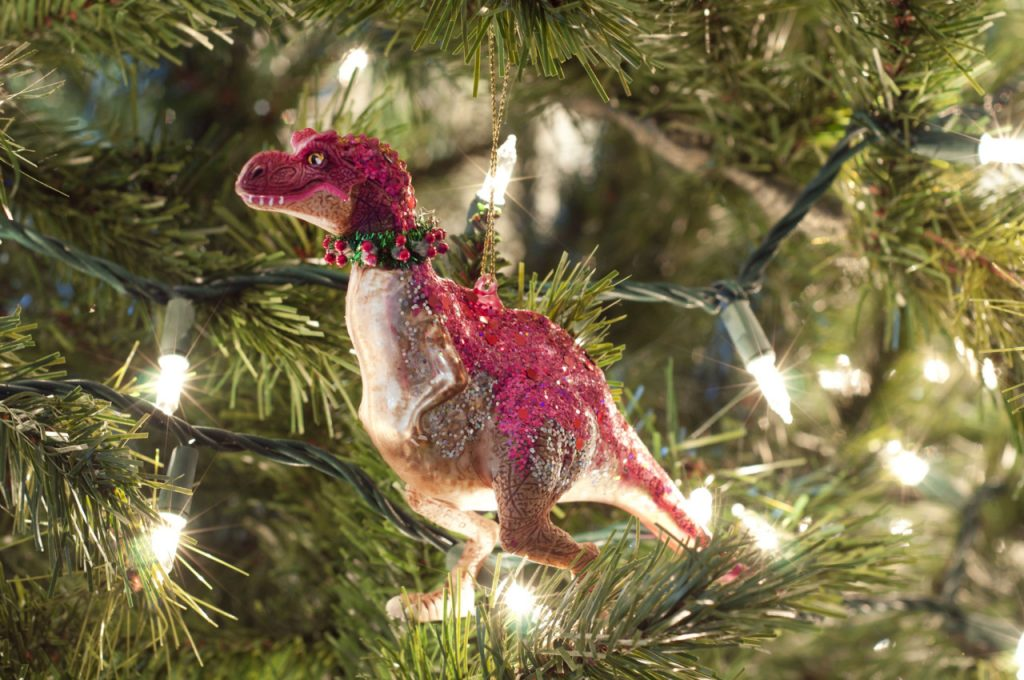 christmas ornament hanging from a tree
