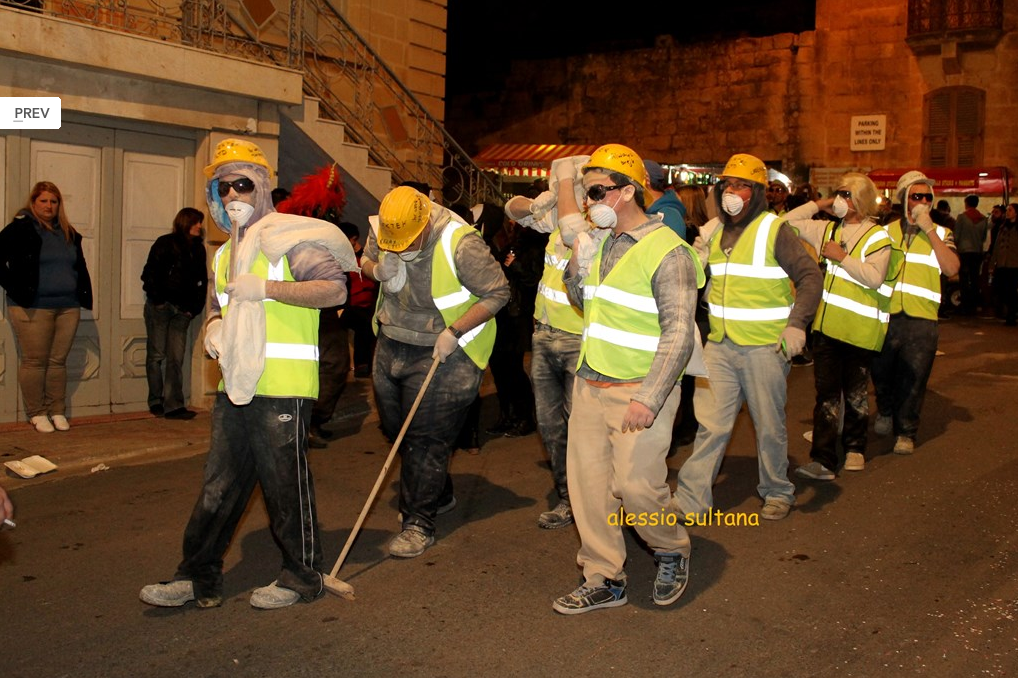 nadur carnival, scene, people