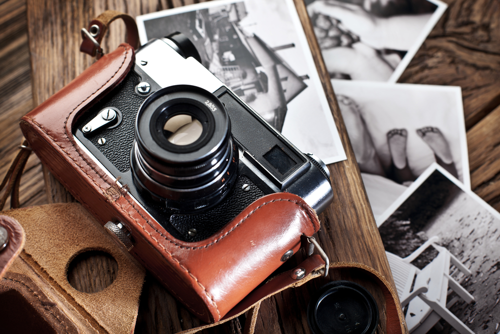 analog camera, Blac and white photographs, classic camera