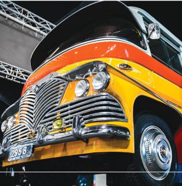 Jonathan Mizzi's recent project, a re-imagining of the traditional Maltese bus as a modern electric fleet