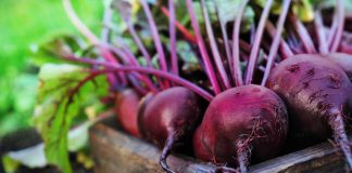 Box of beetroots